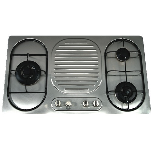 Turbo Incanto T8319LSS 86cm 3 Burners Built-In Hob With Wok Burner On The Left Side