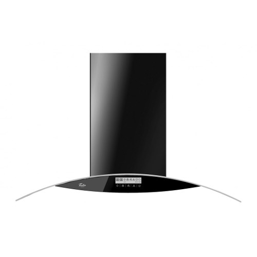 Turbo Incanto TD8688-BK 90cm Black Colour Chimney Hood With Glass Panel & Touch Control