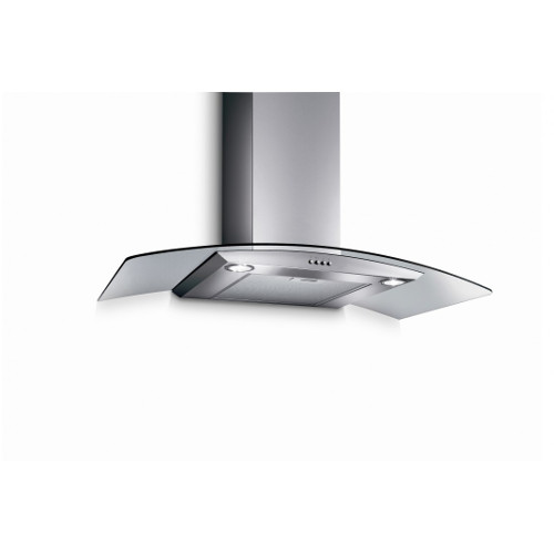 Turbo Incanto TArch-90SS 90cm Chimney Hood With Glass Panel