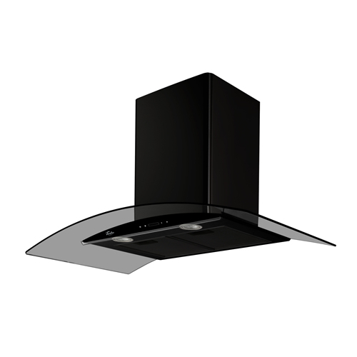 Turbo Incanto TAE96-BK 90cm Black Colour Chimney Hood With Touch Control